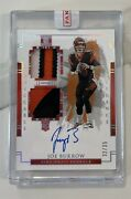 2020 Impeccable Joe Burrow Elegance Rc Helmet And Nameplate Patch Auto 32/35 Rpa
