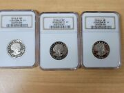 1979 - 1981 S Type 1 Proof 1 Susan B. Anthony One Dollar Ngc Pf 69 - 3 Coin Set