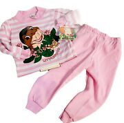 Vintage Land Before Time 3t Littlefoot Dino Pink/white Stripe 2 Pc 1988 Outfit