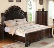Traditional Style 1pc Queen Size Bed Upholstered Headboard Master Bedroom Sturdy