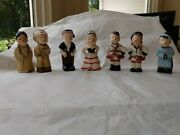4 Sets Of National Potteries Made In Japan Salt And Pepper Shakers 8 Pixies