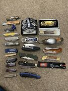 Vintage Knife Collection Lot Old And New Bargain Priced Folding Knives
