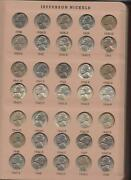 Complete Set Jefferson Nickels 1938-1964 Bu To Gem Bu And 1954 To 1975-s Proofs