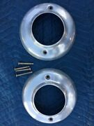 Vintage Weld Racing Forged Truck 4x4 Wheel Center Hub Caps 1 3/4andrdquo Tall 9andrdquo Pair