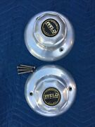 Vintage Weld Racing Forged Truck Wheel Center Hub Caps 4andrdquo Tall 9andrdquo Diameter Pair