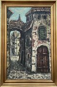 Old Gasse In South Of France City View Coast D'azur Oluf Randböl 36x24in