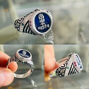 Mahadev महादेव 🔱 -shiva Sterling Silver Ring With Cz White And Colouring Stones