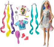 Barbie Hair Style Fantasy Rubia With Looks Of Mermaid And Unicorn Mattel Ghn04