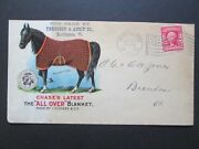 Horse Blanket Illustrated On Both Sides In Color - 1907 Vermont - Ad Cover