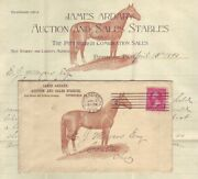 Horse Auction And Sales Stables 1895 Pennsylvania Illustrated Ad Cover W Content