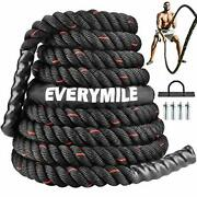 Battle Rope Workout Rope For Core Strength 1.5andrdquoandtimes 30 Ft Length