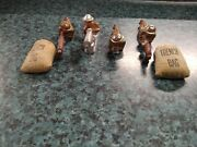 Barclay Manoil Machine Gunners, Trench Bags, Spotter 6 Pc Metal Army Soldier Lot