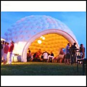Diameter 6m White Color Inflatable Dome Tent For Party Huge Gift Limited Edition