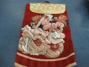 Disney Parks Victorian Mickey And Minnie Tapestry Christmas Holiday Tree Skirt Nwt