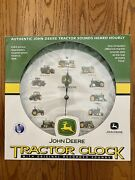 John Deere Tractor Clock W/ Original Recorded Tractor Sounds New In The Box