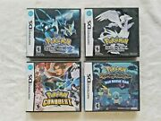 Pokemon Black 1+2 + Conquest + Mystery Nintendo Ds Lot Authentic With Manual