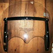 New Triumph Oem Abs Motorcycle Windshield A9740048 Clear/chrome 21 X 19