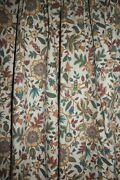4 Panels Vintage Jacobean Washed Pinch Pleat Curtain Drapery Panels 80 L