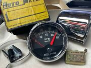 8k Autometer Vintage Tachometer Tested With Sending 8cyl Unit Mint With New Cup