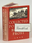Collected Poems Of Robert Frost Henry Holt 1939 Signed By Frost In Jacket