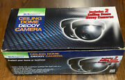Wireless Decoy Security Dummy Surveillance Camera With Flashing Led- 2 Pack