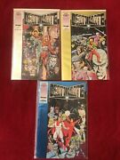 Valiant Comics Deathmate Lot Of 3 Prologue Yellow And Blue Chrome Covers