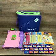 Leapfrog Leappad Learning System Lot 17 Games And 13 Books Pre-owned/ Tested