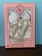 Vtg Lasting Impressions Companion Collection Satin And Lace Gown 12 Doll Shoes