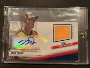 2020 Topps Update All-star Stitches Game Used And Auto Mike Trout 'd 03/15 Nrmt+