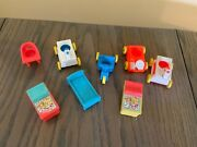 Vintage Fisher Price Little People Nursery Lotriding Toyscrib Changing Table++