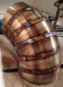 Tig Welded Pie Cut Exhaust Bends All Sizes 1.522.533.545 Inches 16 Gauge