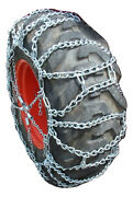 Tirechain.com 13.6-28 Duo Ladder Tractor Tire Chains Set Of 2