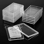 30 Pack 1 Oz Rectangular Silver Bar Case Holder Clear Acrylic Storage Container