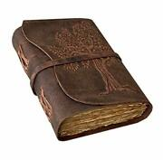 Handmade Leather Journal-leather Bound Journal For Him Her-leather Sketchbook