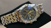 Men Breitling Two Tone 38mm Professional Chronometer Automatic Mint 1998