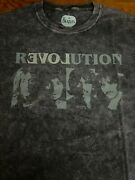 Awesome Distressed Beatles Revolution-love Tie-dye T-shirt Size Xl Preowned