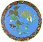 Fabulous Late 1800s/early 1900s Japanese Meiji Colorful Cloisonne Charger Plate