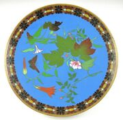 Lovely Late 1800s/early 1900s Japanese Meiji Colorful Cloisonne Charger