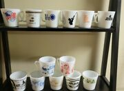 13 Rare Pyrex Milk Glass Mugs Advertising Christmas Childrenand039s Collectable