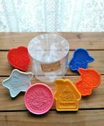 Sanrio Showa Retro Containered Cookie Cutters 6 Pieces 1976 Old Logo Rare