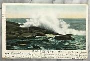 Antique Surf Baileys Island Me Private Mailing Card Postmarked 1904 Postcard