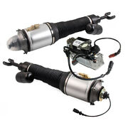 Pair Front Struts Assembly + Air Pump Fit For Bentley Continental Gt Flying Spur