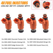 Set 4x Fuel Injector For Yamaha Outboard 115 Hp Marine Engine Inp-771 Cdh210
