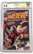 🔥daredevil 7 Cgc 6.5 Signed By Stan Lee1965 Marvel1st Red Suit Ddsubby