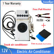 12v Truck Sleeper Air Conditioner Red Fit Bus Rv 12v Air Conditioner - Ac A/c