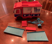 Vintage 1973 Ideal Toys Evil Knievel Scramble Van With Accessories Not Complete