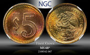 1988-mo Mexico 5 Pesos Ngc Ms68 Star Finest Known Worldwide