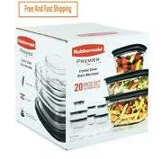 Rubbermaid Premier Easy Find Lids Food Storage Containers 20-piece Free Ship...