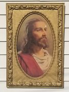 Antique Gilded Gesso Frame For Oval Print Picture Painting Beautiful Pattern