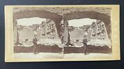 Michele Mang Rome Roma Stereoview Baths Of Caracalla C1860